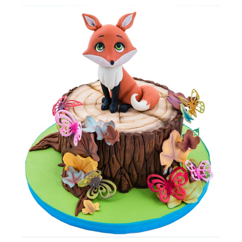 The Woodland Fox Fondant Cake Topper