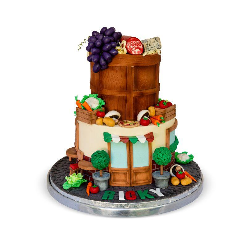 A Taste of Italy Birthday Cake