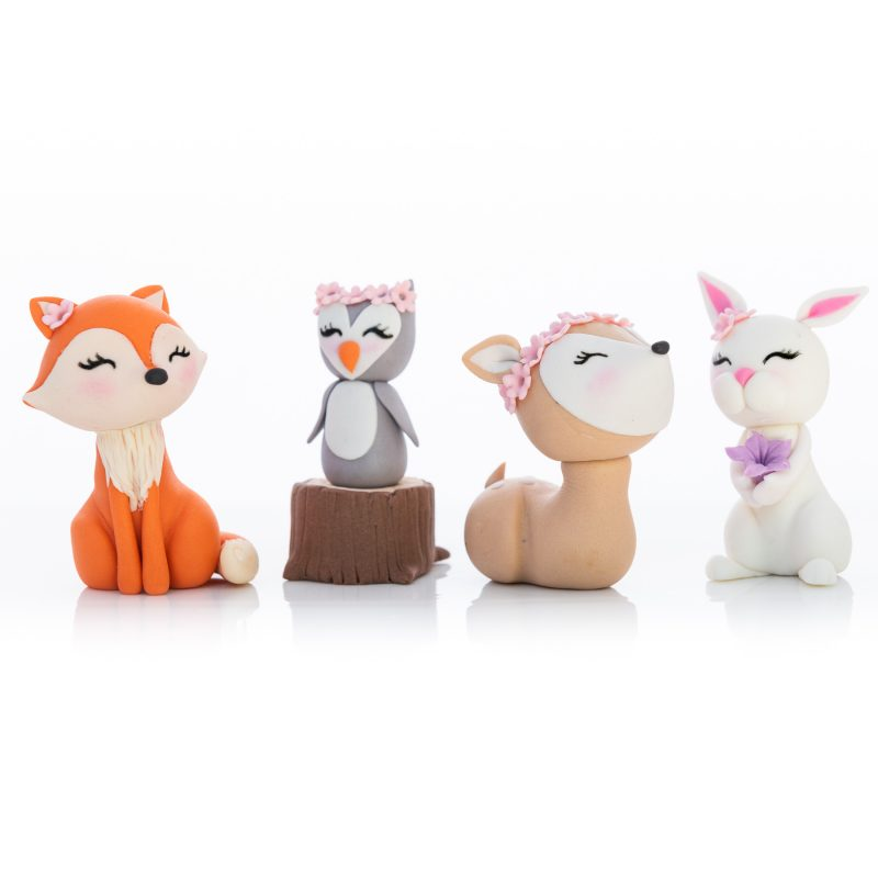 Cute Woodland Fondant Cake Toppers